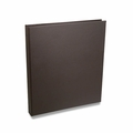 "Rossano Synthetic Leather 1/2"" 3-Ring Binders - Brown"