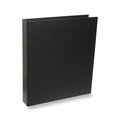 "Rossano Synthetic Leather 1"" 3-Ring Binders - Black"