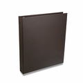 "Rossano Synthetic Leather 1"" 3-Ring Binders - Brown"