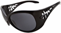 Vast Pili Women's Safety Sunglasses with Black Frame and Smoke Lens