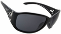 Vast Saksi Women's Safety Sunglasses with Black Frame and Smoke Lens