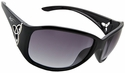 Vast Saksi Women's Safety Sunglasses with Black Frame and Smoke Gradient Lens