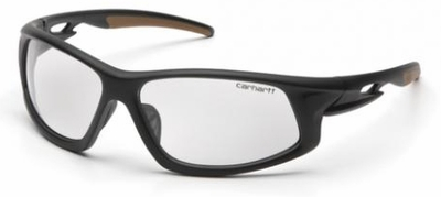 Carhartt Ironside Safety Glasses with Black Frame and Clear Anti-Fog Lenses