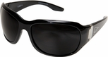 Edge Civetta Women's Ballistic Safety Glasses with Black Frame and Smoke Lens