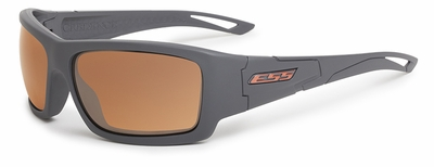ESS Credence Ballistic Sunglasses with Gray Frame and Mirrored Copper Lenses