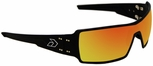 Gatorz Darth Sunglasses with Black Aluminum Frame and Sunburst Mirror Lens