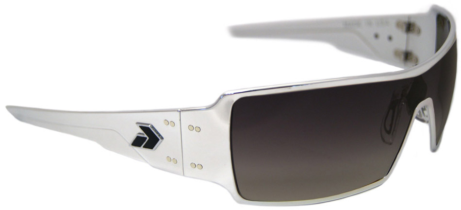 Gatorz Darth Sunglasses with Polished Aluminum Frame and Gray Fade Lens