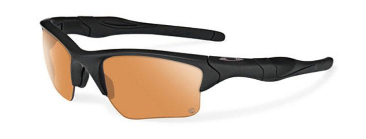 Oakley SI Half Jacket 2.0 XL with Matte Black Frame and Persimmon/Grey Transitions Lenses