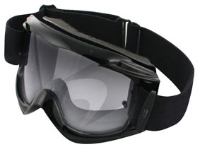 Bobster MX1 Off-Road Goggles with Black Frame and Tear-Off Clear Lens