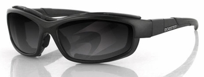 Bobster XRH Interchangeable Sunglasses with Black Frame and 2 Frame Fronts