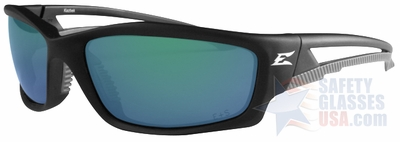Edge Kazbek Polarized Safety Glasses with Blue Mirror Lens