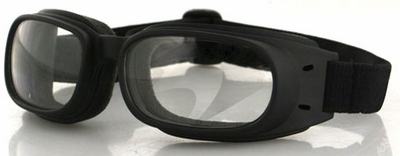 Bobster Piston Goggles with Black Frame and Clear Lens