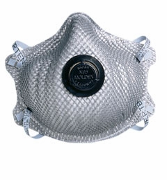 Moldex 2400 N95 Particulate Respirator with Exhale Valve plus Nuisance Organic Vapor Filter 10/Bag