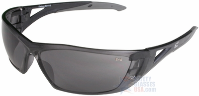 Edge Delano Safety Glasses with Black Frame and Smoke Lens