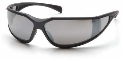 Pyramex Exeter Safety Glasses with Gray Frame and Silver Mirror Anti-Fog Lens