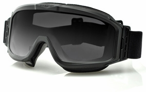 Bobster Alpha Ballistic Goggle with Black Frame and Clear Anti-Fog & Smoke Anti-Fog Lenses