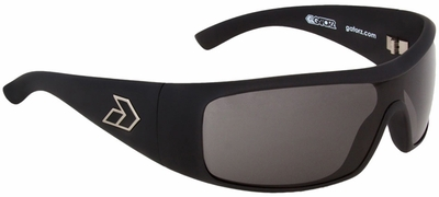 Gatorz Axl Sunglasses with Matte Black Frame and Grey Lens