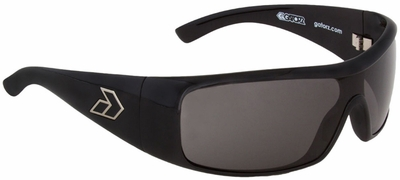 Gatorz Axl Sunglasses with Shiny Black Frame and Grey Lens