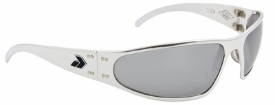 Gatorz Wraptor Sunglasses with Polished Aluminum Frame and Chrome Lens