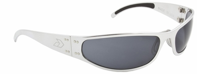 Gatorz Radiator Sunglasses with Polished Aluminum Frame and Gray Lens