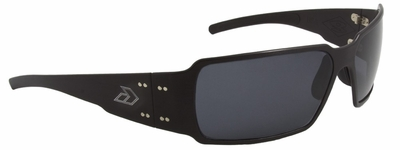 Gatorz Boxster Sunglasses with Black Aluminum Frame and Grey Lens