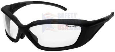 Revision Hellfly Ballistic Glasses with Matte Black Frame and Clear Lens