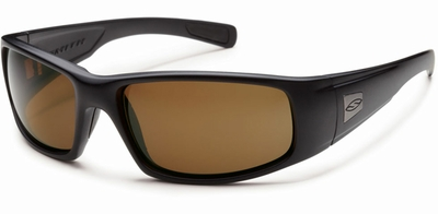 Smith Elite Hideout Tactical Ballistic Sunglasses with Black Frame and Polarized Brown Lens