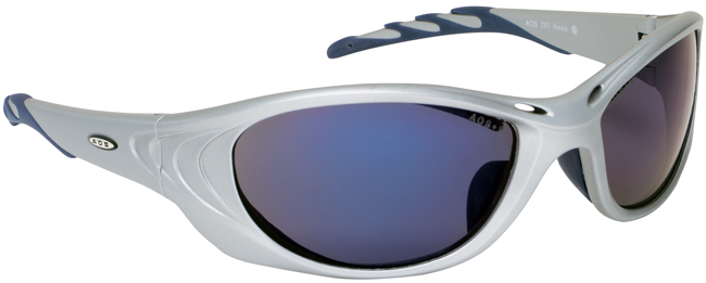 3M Fuel 2 Safety Glasses with Silver Frame and Blue Mirror Lens