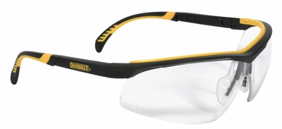DeWalt Dual Comfort Safety Glasses with Black Frame and Clear Anti-Fog Lens
