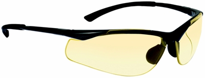 Bolle Contour Safety Glasses with Gunmetal colored Frame and Yellow Anti-Scratch and Anti-Fog Lenses