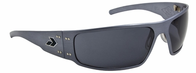 Gatorz Magnum Sunglasses with GunMetal Aluminum Frame and Polarized Grey Lens