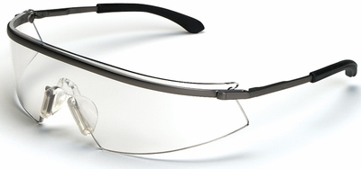 Crews Triwear Metal Safety Glasses with Clear Anti-Fog Lens