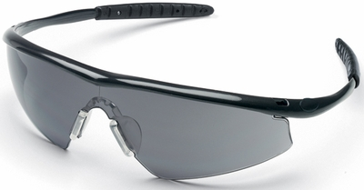 Crews Tremor Safety Glasses with Onyx Frame and Grey Lens