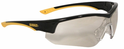 DeWalt Adapter Safety Glasses with Black/Yellow Frame and Indoor/Outdoor Lens