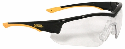 DeWalt Adapter Safety Glasses with Black/Yellow Frame and Clear Lens