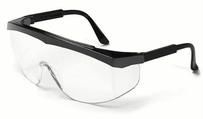 Crews Stratos Safety Glasses with Black Frame and Clear Lens