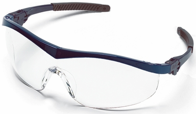 Crews Storm Safety Glasses with Navy Frame and Clear Lens