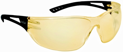 Bolle Slam Safety Glasses with Black Temple and Yellow Anti-Scratch and Anti-Fog Lens