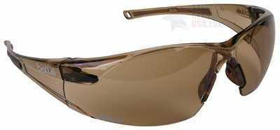 Bolle Rush Safety Glasses with Twilight Anti-Scratch and Anti-Fog Lens