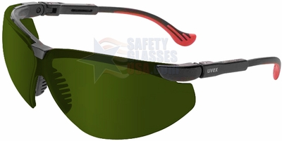 Uvex Genesis XC Safety Glasses with Black Frame and Shade 3 Lens