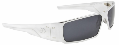 Gatorz Octane Sunglasses with Polished Aluminum Frame and Gray Lens