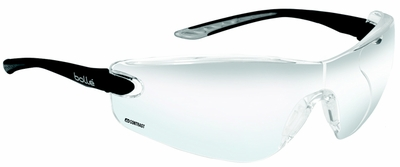 Bolle Cobra Safety Glasses with Black Temples and Contrast Anti-Scratch and Anti-fog Lens