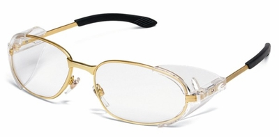 Crews RT2 Safety Glasses with Brass Frame and Clear Lens