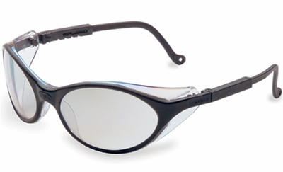 Uvex Bandit Safety Glasses with Black Frame and Reflect 50 Lens