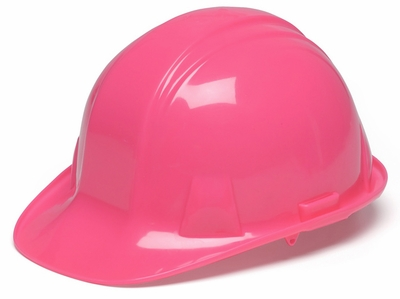 Pyramex Pink Hard Hat with Standard Shell and 4-Point Ratchet Suspension