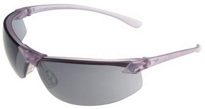 Encon Veratti LS7 Safety Glasses with Purple Frame and Gray Lens