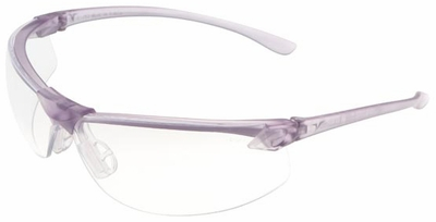 Encon Veratti LS7 Safety Glasses with Purple Frame and Clear Lens