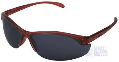 Uvex W200 Series with Dusty Rose Frame and TSR Gray Hardcoat Lens