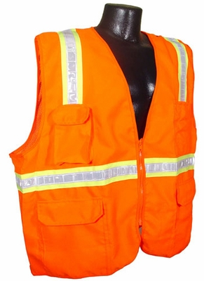 Radians SV6-Two Tone Surveyor Class 2 Orange Reflective Safety Vest