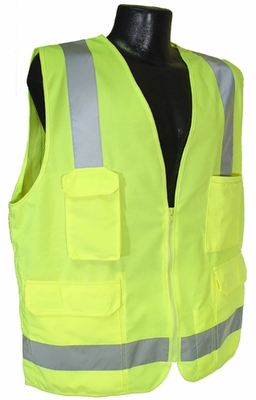 Radians SV7 Surveyor Class 2 Green Reflective Safety Vest